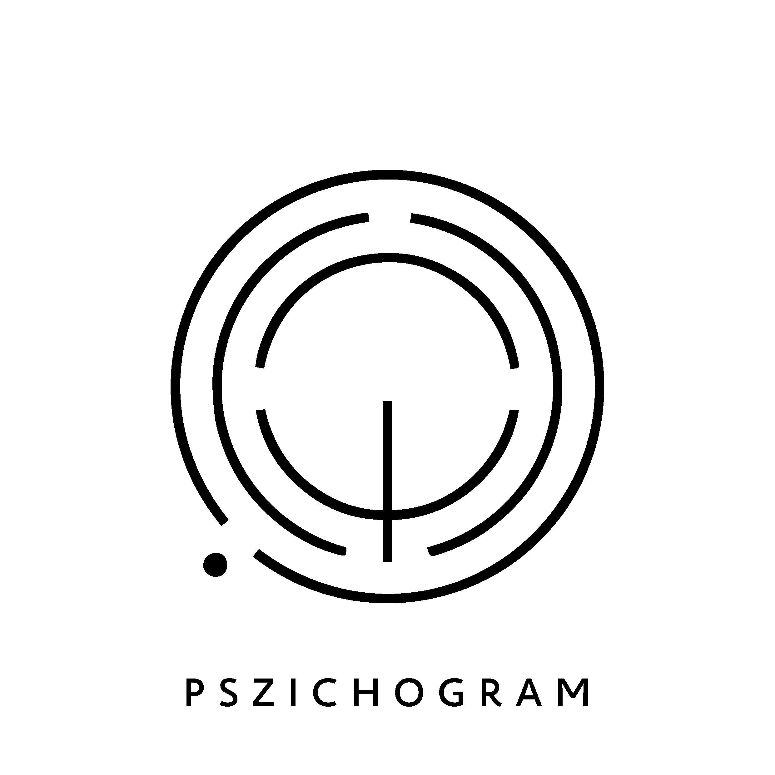 Pszichogram Pszichológiai Tanácsadó logó fekete